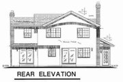 Traditional Style House Plan - 3 Beds 2.5 Baths 1779 Sq/Ft Plan #18-9043 Exterior - Rear Elevation