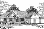 Traditional Style House Plan - 4 Beds 2.5 Baths 3607 Sq/Ft Plan #70-296 Exterior - Front Elevation