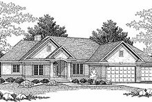 Dream House Plan - Traditional Exterior - Front Elevation Plan #70-296