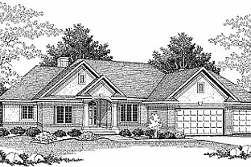 Traditional Exterior - Front Elevation Plan #70-296