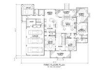 Colonial Floor Plan - Main Floor Plan Plan #1054-78