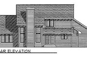 Traditional Style House Plan - 3 Beds 2.5 Baths 1864 Sq/Ft Plan #70-274 Exterior - Rear Elevation