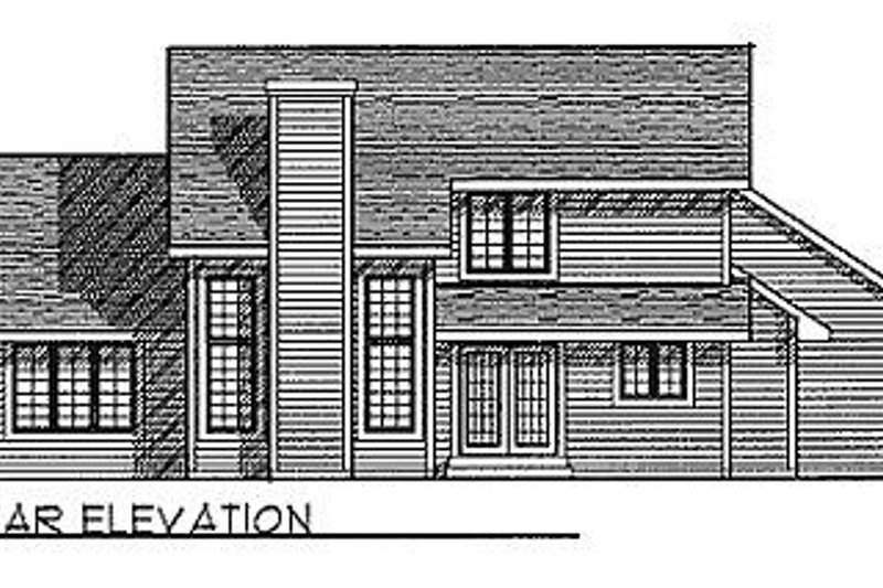 Traditional Exterior - Rear Elevation Plan #70-274 - Houseplans.com