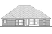 European Exterior - Rear Elevation Plan #430-66
