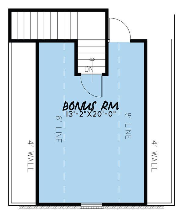 Traditional Floor Plan - Upper Floor Plan Plan #923-37