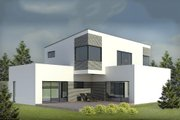 Modern Style House Plan - 3 Beds 2 Baths 2169 Sq/Ft Plan #906-3 Exterior - Front Elevation