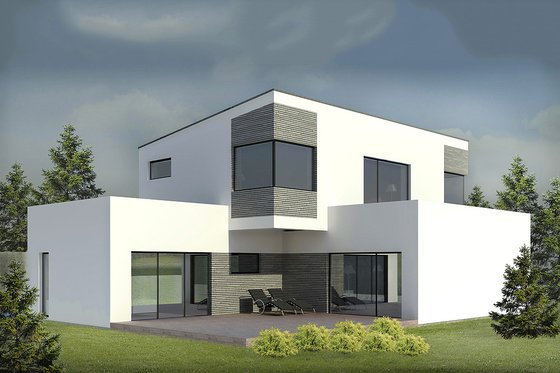 Modern Exterior - Front Elevation Plan #906-3