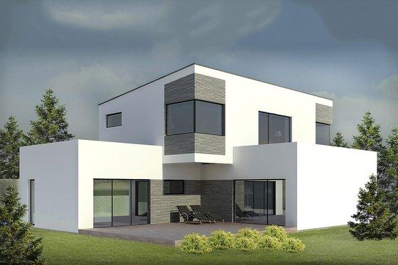 Modern Exterior - Front Elevation Plan #906-3