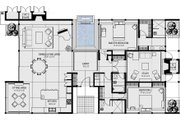 Ranch Style House Plan - 3 Beds 3 Baths 2787 Sq/Ft Plan #544-1 Floor Plan - Main Floor