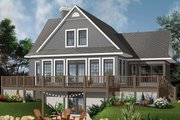 Contemporary Style House Plan - 4 Beds 3 Baths 2416 Sq/Ft Plan #23-2317 Exterior - Rear Elevation