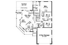 Craftsman Floor Plan - Main Floor Plan Plan #126-182