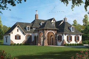 Dream House Plan - European Exterior - Front Elevation Plan #20-1731