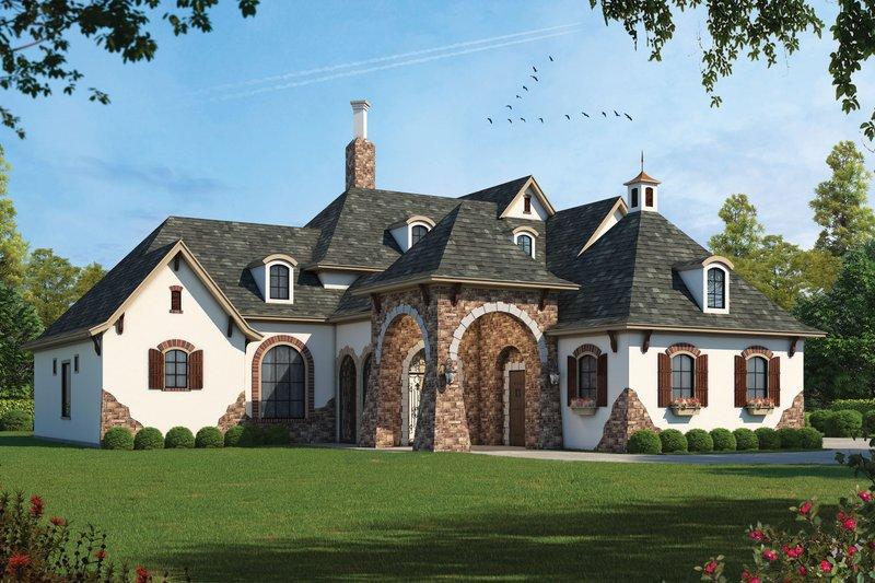 European Style House Plan - 4 Beds 4.5 Baths 4629 Sq/Ft Plan #20-1731