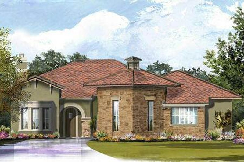 European Exterior - Front Elevation Plan #61-313 - Houseplans.com