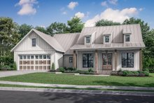 Dream House Plan - Farmhouse Exterior - Front Elevation Plan #430-241