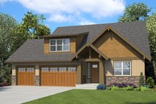 Ranch Exterior - Front Elevation Plan #48-948