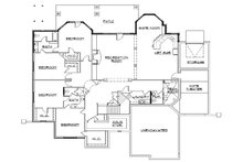 Craftsman Floor Plan - Lower Floor Plan Plan #5-334