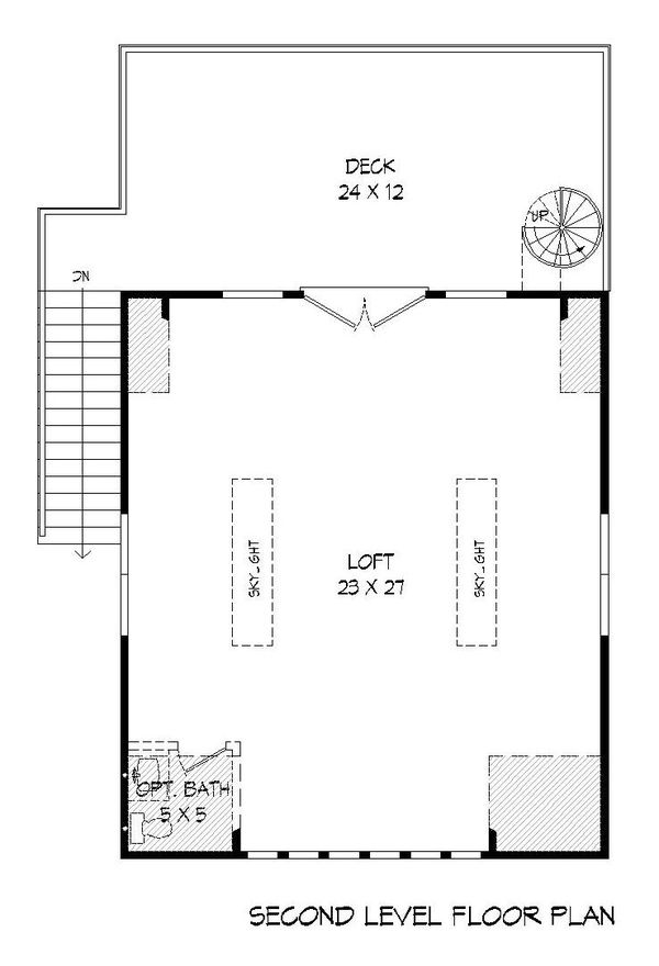 Cottage Floor Plan - Upper Floor Plan Plan #932-241
