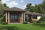 Contemporary Style House Plan - 3 Beds 2.5 Baths 2175 Sq/Ft Plan #48-687 Exterior - Rear Elevation