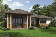 Contemporary Exterior - Rear Elevation Plan #48-687