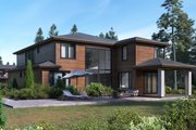 Contemporary Style House Plan - 5 Beds 4.5 Baths 4075 Sq/Ft Plan #1066-17 Exterior - Rear Elevation