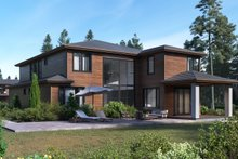 House Plan Design - Contemporary Exterior - Rear Elevation Plan #1066-17