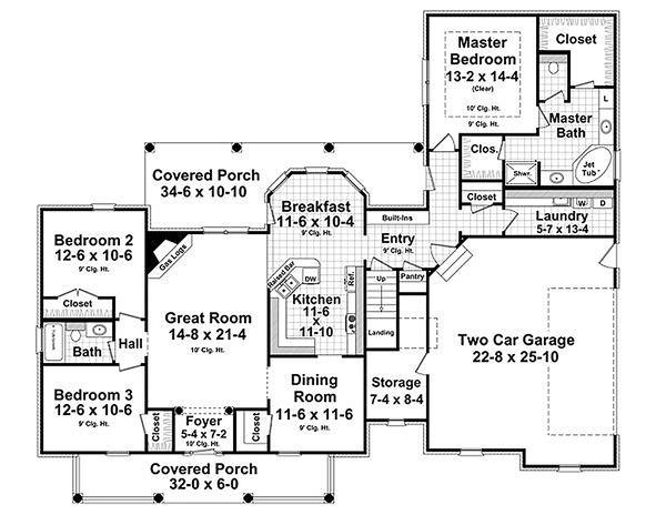 Traditional Floor Plan - Main Floor Plan #21-329