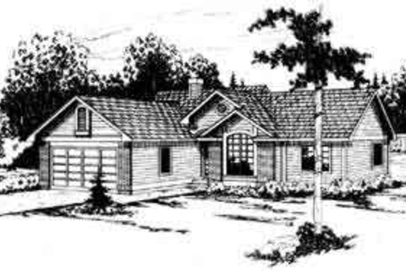 Modern Style House Plan - 3 Beds 2 Baths 1410 Sq/Ft Plan #124-141 Exterior - Front Elevation