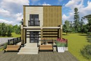 Modern Style House Plan - 3 Beds 2 Baths 1291 Sq/Ft Plan #549-2 Exterior - Other Elevation