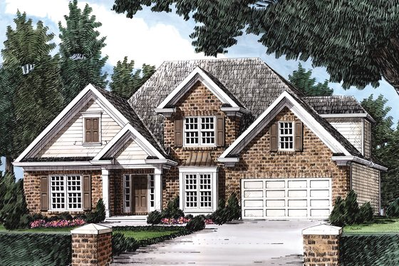 Traditional Exterior - Front Elevation Plan #927-7