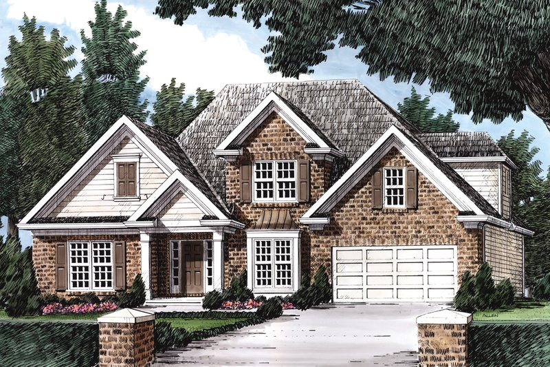 Home Plan - Traditional Exterior - Front Elevation Plan #927-7