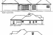 Southern Style House Plan - 4 Beds 2.5 Baths 2586 Sq/Ft Plan #63-107 Exterior - Rear Elevation