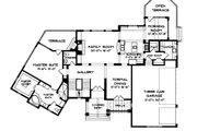 Tudor Style House Plan - 4 Beds 3 Baths 3797 Sq/Ft Plan #413-114 Floor Plan - Main Floor Plan