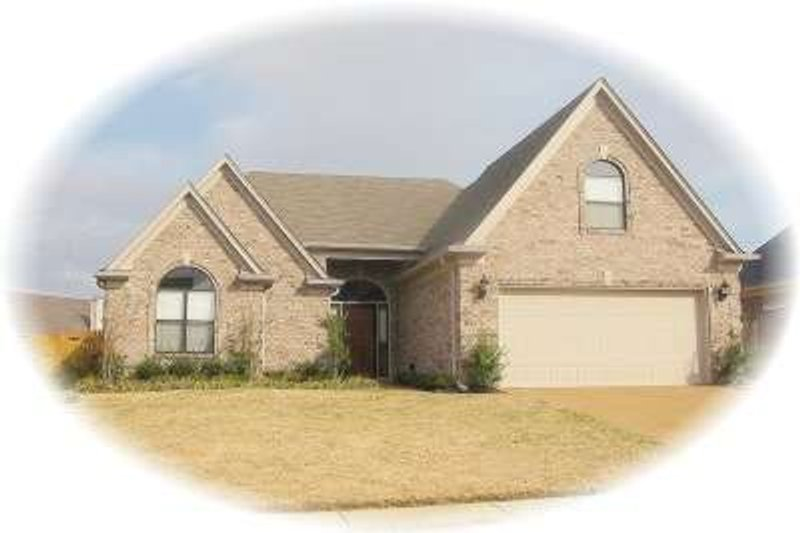 European Style House Plan - 3 Beds 2 Baths 1683 Sq/Ft Plan #81-1453 Exterior - Front Elevation