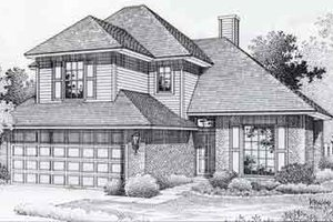 Colonial Exterior - Front Elevation Plan #310-759