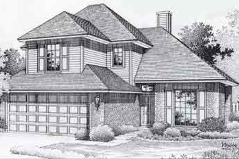 Colonial Style House Plan - 3 Beds 2 Baths 1533 Sq/Ft Plan #310-759 Exterior - Front Elevation