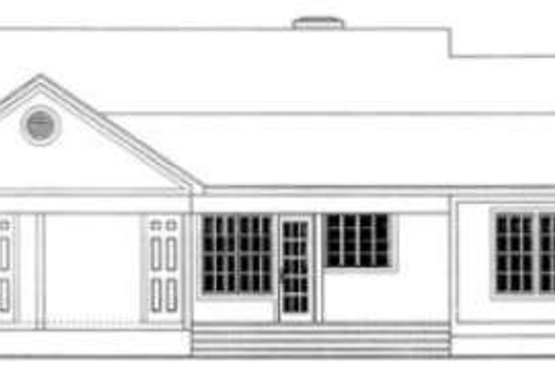 Country Exterior - Rear Elevation Plan #406-247 - Houseplans.com