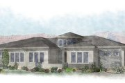 Adobe / Southwestern Style House Plan - 4 Beds 2.5 Baths 2476 Sq/Ft Plan #24-290 Exterior - Front Elevation