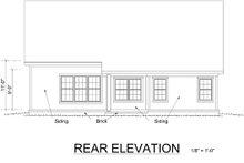 Traditional Exterior - Rear Elevation Plan #513-2052