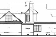 Southern Style House Plan - 4 Beds 3.5 Baths 3012 Sq/Ft Plan #45-161 Exterior - Rear Elevation