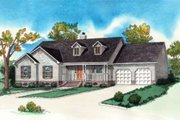 Country Style House Plan - 3 Beds 2 Baths 1589 Sq/Ft Plan #16-286 Exterior - Front Elevation