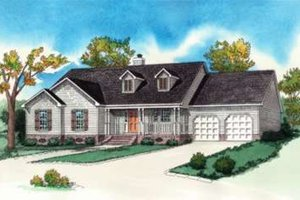 Country Exterior - Front Elevation Plan #16-286