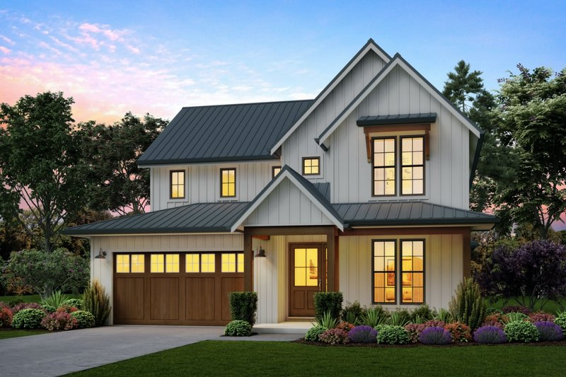 Home Plan - Contemporary Exterior - Front Elevation Plan #48-987