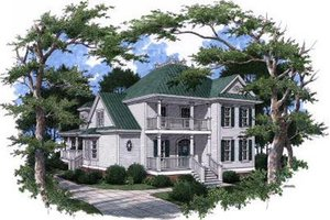 Victorian Exterior - Front Elevation Plan #37-226
