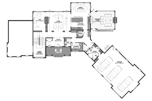 Farmhouse Floor Plan - Main Floor Plan Plan #928-308