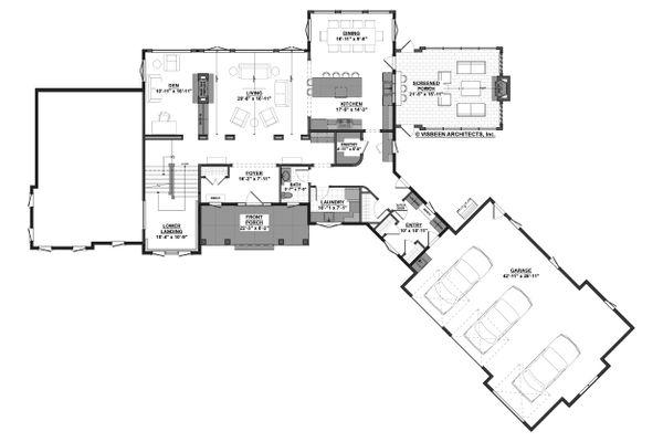 Dream House Plan - Farmhouse Floor Plan - Main Floor Plan #928-308