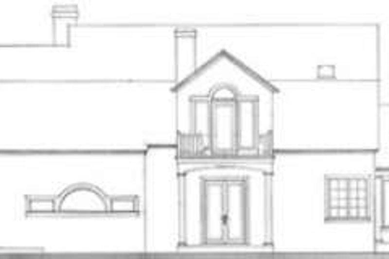 Southern Exterior - Rear Elevation Plan #406-146 - Houseplans.com