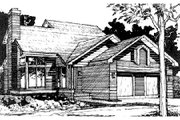 Traditional Style House Plan - 3 Beds 2 Baths 1333 Sq/Ft Plan #320-335 Exterior - Front Elevation