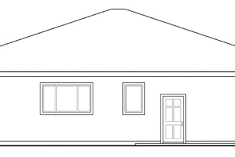 Cabin Exterior - Rear Elevation Plan #124-854 - Houseplans.com