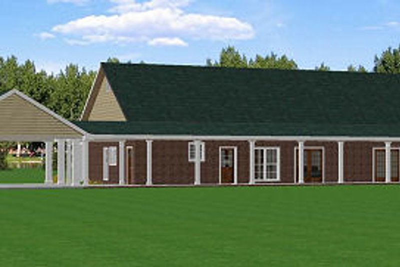 Country Exterior - Rear Elevation Plan #44-156 - Houseplans.com